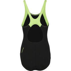 speedo Boom Splice Muscleback Swimsuit Women, black/green